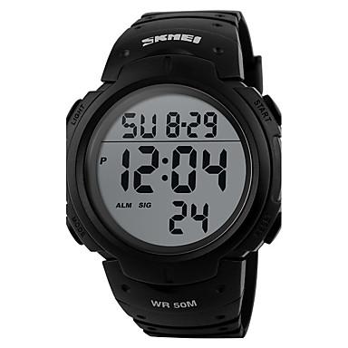 저렴한 남성용 시계-남성용 여성용 스포츠 시계 밀리터리 시계 스마트 시계 디지털 실리콘 블랙 30 m 방수 알람 달력 디지털 참 사치 캐쥬얼 뱅글 패션 - 그린 블루 다크 그린 / 크로노그래프 / LCD / 충격 방지 / 야광 / 별이 빛나는