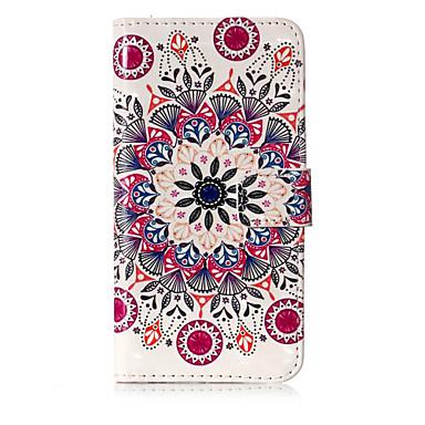 voordelige Galaxy J-serie hoesjes / covers-hoesje Voor Samsung Galaxy J7 (2017) / J5 (2017) / J5 (2016) Portemonnee / Kaarthouder / met standaard Volledig hoesje Mandala Hard PU-nahka