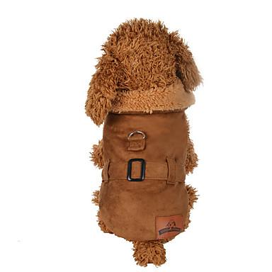 Собака Плащи Одежда для собак Однотонный Коричневый Полиэстер Костюм Для домашних животных Муж. / Жен. На каждый день