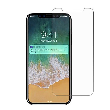 voordelige iPhone X screenprotectors-Screenprotector voor iPhone X Gehard Glas 1 stuks Voorkant screenprotector High-Definition (HD) / 9H-hardheid / Explosieveilige