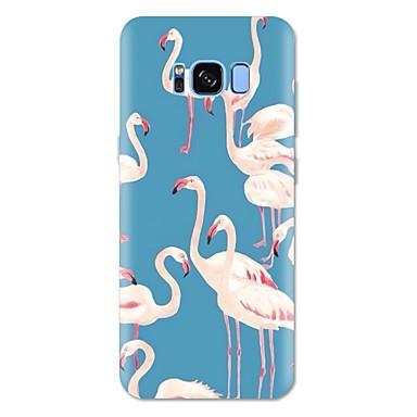 Недорогие Чехлы и кейсы для Galaxy S6 Edge-Кейс для Назначение SSamsung Galaxy S8 Plus / S8 / S7 edge С узором Кейс на заднюю панель Фламинго / Животное Мягкий ТПУ