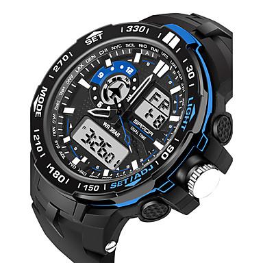 Χαμηλού Κόστους Ανδρικά ρολόγια-Ανδρικά Γυναικεία Αθλητικό Ρολόι Στρατιωτικό Ρολόι Έξυπνο ρολόι Ψηφιακή σιλικόνη Μαύρο 30 m Ανθεκτικό στο Νερό Συναγερμός Ημερολόγιο Αναλογικό-Ψηφιακό Φυλαχτό Πολυτέλεια Καθημερινό Βραχιόλι Μοντέρνα