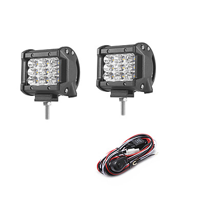 cheap Vehicle Work Lighting-2pcs Car Light Bulbs SMD 3030 2700 lm 9 Working Light For