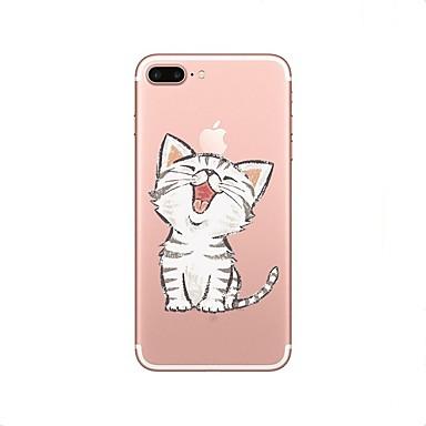 케이스 제품 Apple iPhone X iPhone 8 투명 패턴 뒷면 커버 고양이 소프트 TPU 용 iPhone X iPhone 8 Plus iPhone 8 iPhone 7 Plus iPhone 7 iPhone 6s Plus iPhone 6s
