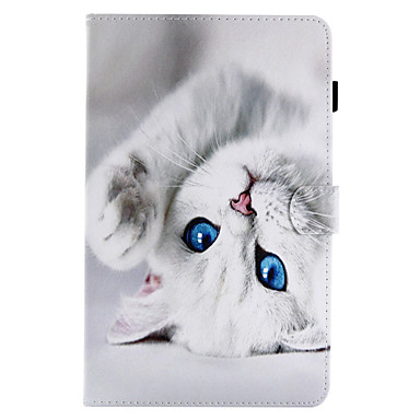 the latest 877ab ad0e4 Case For Samsung Galaxy / Tab A 8.0 / Tab A 9.7 Tab E 9.6 / Tab E 8.0 / Tab  A 10.1 (2016) Card Holder / with Stand / Flip Full Body Cases Cat Hard PU  ...