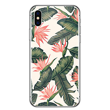 Case For Apple iPhone X / iPhone 8 Ultra-thin / Transparent / Pattern Back Cover Flower Soft Rubber for iPhone X / iPhone 8 Plus / iPhone 8