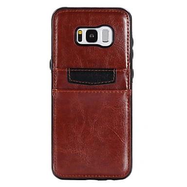 Недорогие Чехлы и кейсы для Galaxy S6-Кейс для Назначение SSamsung Galaxy S8 Plus / S8 / S7 edge Бумажник для карт / Защита от удара / Ультратонкий Кейс на заднюю панель Однотонный Мягкий Кожа PU