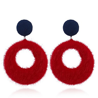 billige Damesmykker-Dame Dråpeøreringer damer Vintage øredobber Smykker Grå / Rød / Mørk Marineblå Til Fest Daglig To Paneler