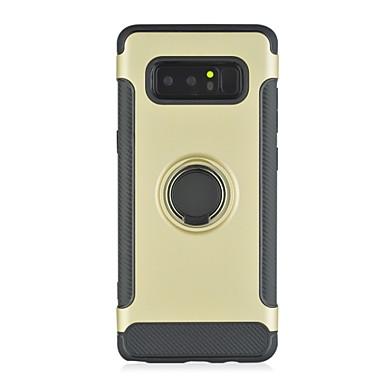 voordelige Galaxy Note-serie hoesjes / covers-hoesje Voor Samsung Galaxy Note 8 Schokbestendig / Ringhouder Achterkant Effen Hard PC