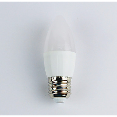1 개 4W 300lm E27 LED 캔들 조명 C35 6 LED 비즈 SMD 3528 따뜻한 화이트 110-240V