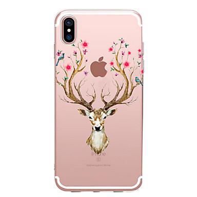 من أجل iPhone X إفون 8 أغط / كفرات شفاف نموذج غطاء خلفي غطاء حيوان زهور ناعم TPU إلى Apple iPhone X iPhone 8 Plus iPhone 8 فون 7 زائد فون