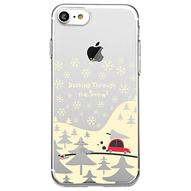 voordelige iPhone 5 hoesjes-hoesje Voor iPhone 7 / iPhone 7 Plus / iPhone 6s Plus iPhone 8 Plus / iPhone 8 / iPhone SE / 5s Patroon Achterkant Boom / Kerstmis Zacht TPU