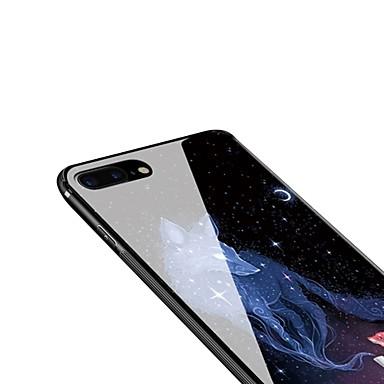 iPhone iPhone Per Fantasia Plus iPhone Custodia iPhone 06392626 Vetro Apple per 8 retro Plus X Per 8 8 Morbido temperato Animali iPhone X disegno 1dw04x0