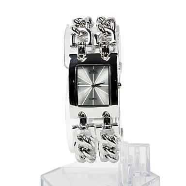여성용 패션 시계 팔찌 시계 석영 스테인레스 스틸 밴드 실버