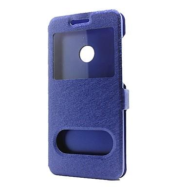 ieftine Carcase / Huse de Huawei-Maska Pentru Huawei P9 / Huawei P9 Lite / Huawei P8 P10 Lite / P10 Portofel / Cu Stand / cu Fereastră Carcasă Telefon Mată Greu PU piele pentru P10 Plus / P10 Lite / P10