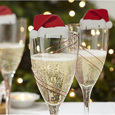 10pcs Vánoce Vánoční ozdoby, Holiday Decorations 6*3.6*0.2