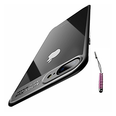 voordelige iPhone-hoesjes-hoesje Voor Apple iPhone 8 Plus / iPhone 8 / iPhone 7 Plus Ultradun Achterkant Effen Zacht TPU