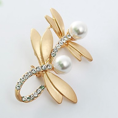d48176697 cheap Brooches-Women's Brooches Dragonfly Animal Ladies Sweet  Imitation Pearl Imitation