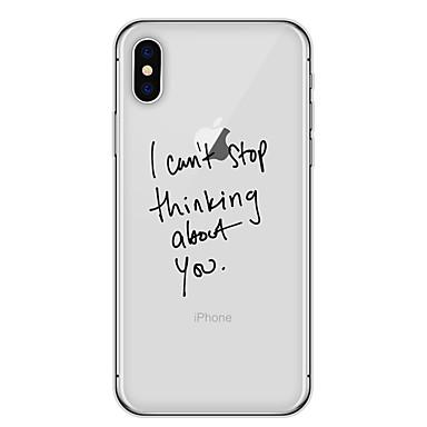 hoesje Voor Apple iPhone X iPhone 8 Patroon Achterkant Woord / tekst Zacht TPU voor iPhone X iPhone 8 Plus iPhone 8 iPhone 7 Plus iPhone