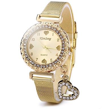 Жен. Часы со стразами Модные часы Повседневные часы Китайский Кварцевый Повседневные часы Нержавеющая сталь Группа Блестящие Heart Shape