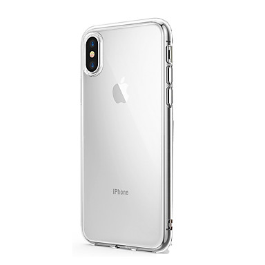voordelige iPhone-hoesjes-hoesje Voor Apple iPhone X / iPhone 8 Plus / iPhone 8 Ultradun / Transparant Achterkant Effen Zacht Siliconen