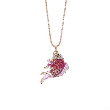 billige Mode Halskæde-Dame Halskædevedhæng Kædehalskæde Fisk Simple Smuk Mørkeblå Lys pink Halskæder Smykker 1 Til Gave Aftenselskab