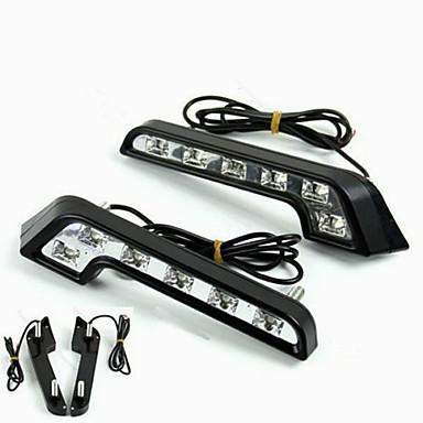economico Luci diurne-2pcs Lampadine 6W LED ad alta intensità 6 Luce di posizione For Mercedes-Benz C200 / C180 / Classic Universale