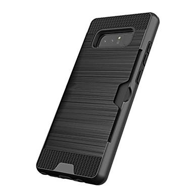 voordelige Galaxy Note-serie hoesjes / covers-hoesje Voor Samsung Galaxy Note 8 / Note 5 Kaarthouder / Schokbestendig Achterkant Effen Hard Muovi