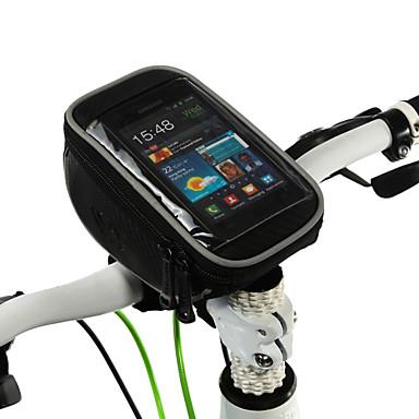 ROSWHEEL Fietsstuurtas Mobiele telefoon tasje 5.0 duim Aanraakscherm Multifunctionele Wielrennen voor Samsung Galaxy S6 iPhone 5c iPhone