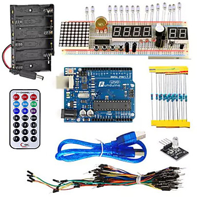 kt003 kit de starter cu placă de pâine / senzor / led pentru piese arduino diy