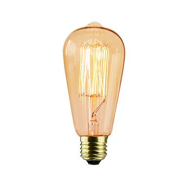 BriLight 1pç 40W E27 E26/E27 ST64 Branco Quente K Incandescente Vintage Edison Light Bulb AC 220-240V V