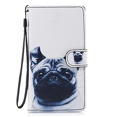 voordelige Galaxy J-serie hoesjes / covers-hoesje Voor Samsung Galaxy J5 (2017) / J5 (2016) / J3 (2017) Portemonnee / Kaarthouder / met standaard Volledig hoesje Hond Hard PU-nahka
