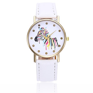 Women's Wrist Watch Quartz Quilted PU Leather Black / White / Blue Casual Watch Analog Ladies Casual Colorful Minimalist - Pink Khaki Light Green One Year Battery Life / Jinli 377