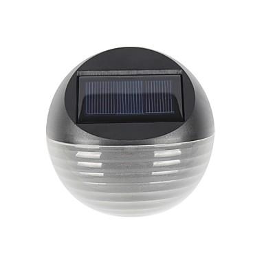 Недорогие Уличные светильники-1pc теплый / холодный белый цвет 6led солнечный свет солнечная энергия забор лампа полукруг сад газон настенный светильник