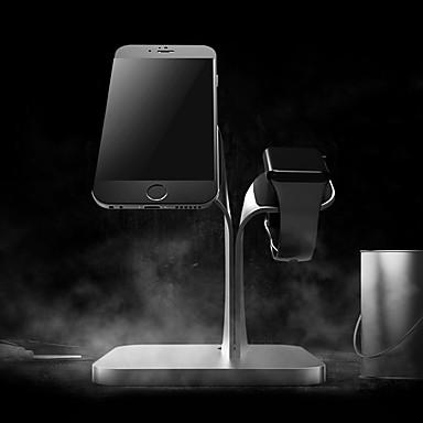 Uhr stehen für Apfel Uhren Serie 1 2 iphone 7 6 6s plus 5 5s 5c Aluminium Stand All-in-1 38mm / 42mm Kabel nicht enthalten
