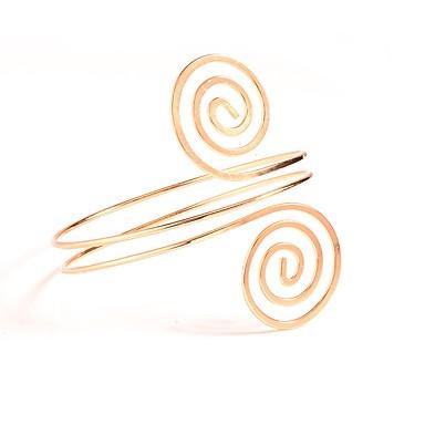 hesapli Vücut Takıları-Kadın's Vücut Mücevheri Kol Manşetleri Altın / Gümüş Circle Shape İfade / Bayan / Basit alaşım Kostüm takısı Uyumluluk Günlük 9.0*9.0*8.2 cm Yaz