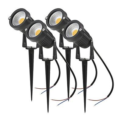 ieftine Lumini de Exterior-4 buc 4 W Proiectoare LED / Lumini de gazon Rezistent la apă / Model nou / Decorativ Alb Cald / Alb Rece / Roșu 85-265 V / 12 V Lumina Exterior / Curte / Grădină 1 LED-uri de margele