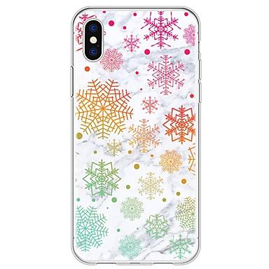 voordelige iPhone 6 Plus hoesjes-hoesje Voor Apple iPhone X / iPhone 8 Plus / iPhone 8 Patroon Achterkant Tegel / Marmer Zacht TPU