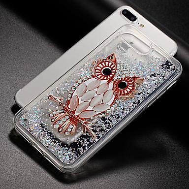 Kılıf Na Apple iPhone X iPhone 8 Z płynem Wzór Czarne etui Połysk Sowa Miękkie TPU na iPhone X iPhone 8 Plus iPhone 8 iPhone 7 Plus