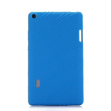 זול כיסויים לטאבלט-מגן עבור HUAWEI MediaPad T3 7.0 עם מעמד כיסוי אחורי אחיד / פסים רך סיליקון ל Huawei MediaPad T3 7.0