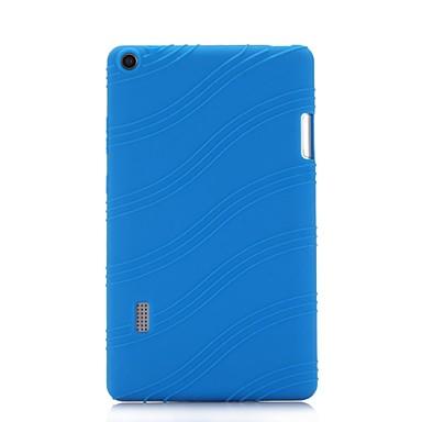 billige Tabletetuier-Etui Til HUAWEI MediaPad T3 7.0 Med stativ Bagcover Ensfarvet / Stribet Blødt Silikone for Huawei MediaPad T3 7.0