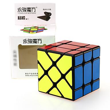 Rubik kocka YONG JUN Alien Fisher Cube 3*3*3 Sima Speed Cube Rubik-kocka Puzzle Cube szakmai szint Sebesség Négyzet Újév Gyermeknap