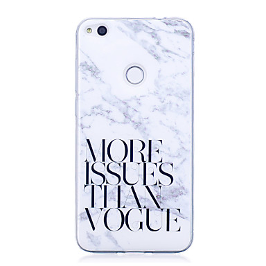 voordelige Huawei Y-serie hoesjes / covers-hoesje Voor Huawei IMD / Patroon Woord / tekst / Marmer Zacht