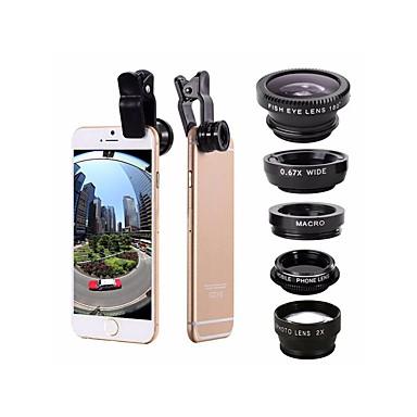 Φακός κινητού τηλεφώνου Υπερευρυγώνιος Φακός / Ευρυγώνιος Φακός / Μακροσκοπικός Φακός Aluminum Alloy 2X 0.01m 30 Υψηλή Ανάλυση