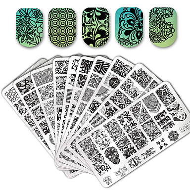 10/20pcs 스탬핑 플레이트 세련 / 레이스 네일 아트 디자인 패션너블 디자인