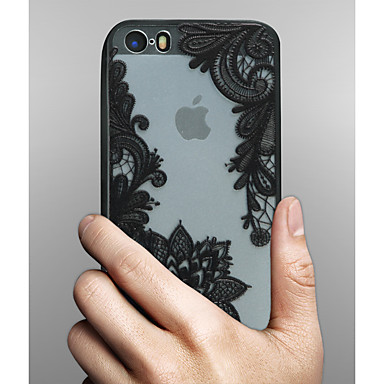 Case For Apple iPhone X iPhone 8 iPhone 5 Case iPhone 6 iPhone 6 Plus Transparent Pattern Back Cover Lace Printing Hard PC for iPhone X
