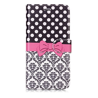 voordelige iPhone X hoesjes-hoesje Voor Apple iPhone X / iPhone 8 Plus / iPhone 8 Portemonnee / Kaarthouder / Flip Volledig hoesje Tegel / Lace Printing Hard PU-nahka