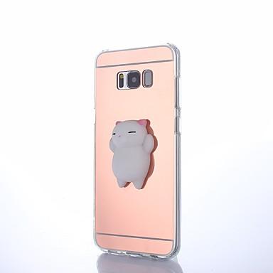 Недорогие Чехлы и кейсы для Galaxy S6-Кейс для Назначение SSamsung Galaxy S8 Plus / S8 / S7 edge Своими руками / болотистый Кейс на заднюю панель Животное Твердый Акрил