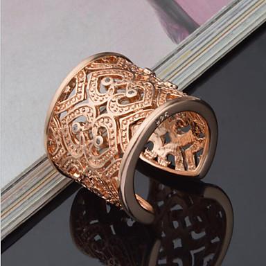 Kadın's Bildiri Yüzüğü manşet Yüzük - Som Gümüş, Yapay Elmas Kalp, Aşk Lüks, Eşsiz Tasarım, Zarif Ayarlanabilir Altın / Gümüş Uyumluluk Düğün Parti Yıldönümü