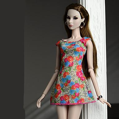 d14dce3b61 Ruhák Ruhák mert Barbiedoll Narancssárga piros Poli / pamut Ruha mert Lány  Doll Toy